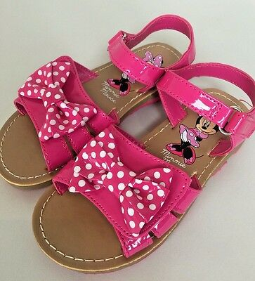 Disney Minnie Mouse Little girls size 11 Pink Bow Sandals Shoes New