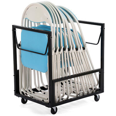 Residential Durable Steel Frame Folding Chair Storage Cart Dolly Heavy Duty