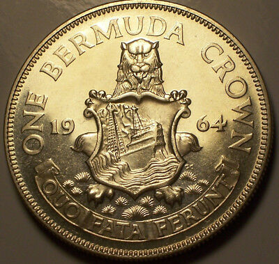British Bermuda, 1964 Elizabeth II Crown Proof.
