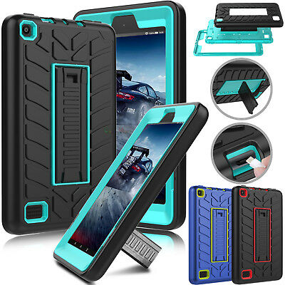 For Amazon Kindle Fire HD 8 / 7 7th Gen 2017 Tablet Shockproof Stand Case Cover