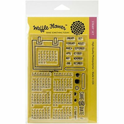 Waffle Flower Crafts Clear Stamps 4X6-Calendar