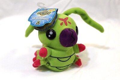 "Digimon - Wormmon 5"" plush Bandai Japan Exclusive 1997 Digital Monsters Rare"