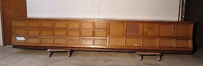 Rare 16' General Store or Country Store Oak Sherer Seed Bean  Counter  Cabinet