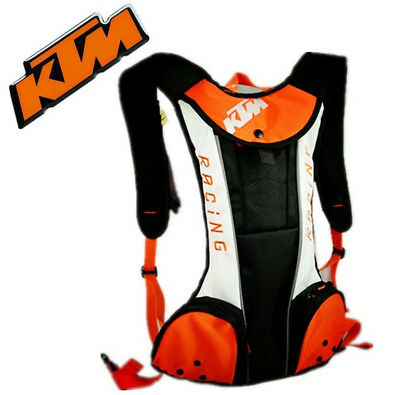 New White KTM Motorcycle Bike Riding Hydration Water Bag Camel Pack Backpack
