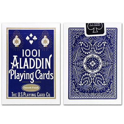 1 Deck of 1001 Aladdin Smooth Finish (BLUE) Playing Cards Collectible Poker Deck