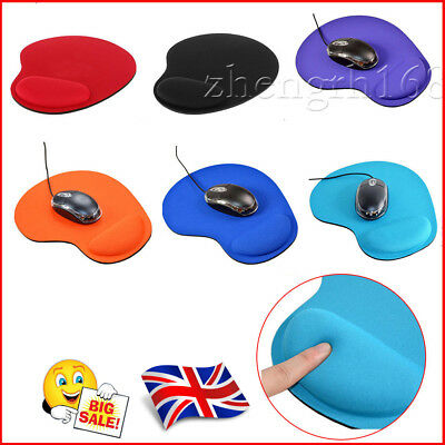 Anti Slip   Mouse Mat Pad With Rest Wrist Comfort Support Laptop PC UK