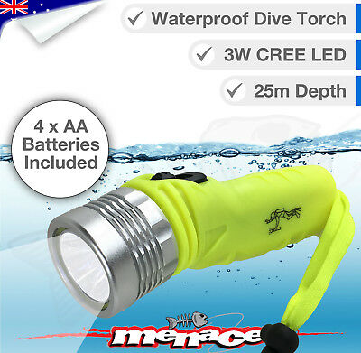 25m Waterproof Dive Torch CREE LED Flashlight UnderWater Light Scuba Diving Lamp