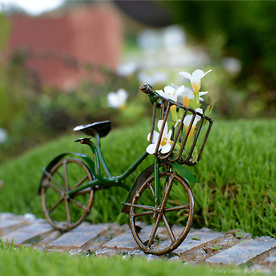 Antique Bicycle - Green Fairy cottage Home Garden Craft Décor