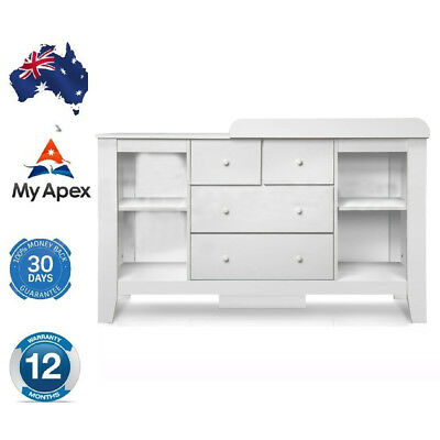 Baby change table nursery dresser chest storage 7 drawers Nursery chest of drawers with changer