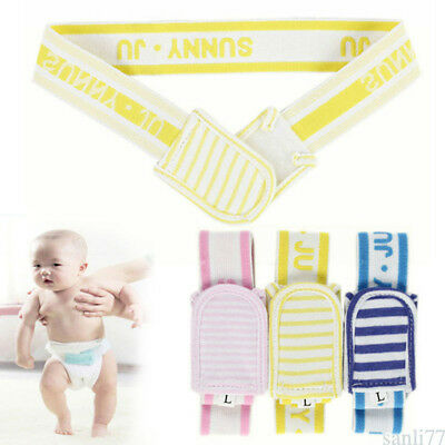 Baby Diaper Buckle Adjustable Nappy Fasteners Fixed Soft Elastic Belt 2 Sizes