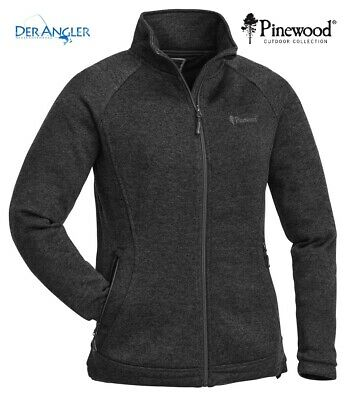 Pinewood Gabriella Membran Fleece Damen Fleece Strickjacke Winddicht Grau New