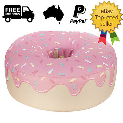 Extra Large Pink Donut Bean Bag Chair Beanbag Cozy Kids Living Room Comfort