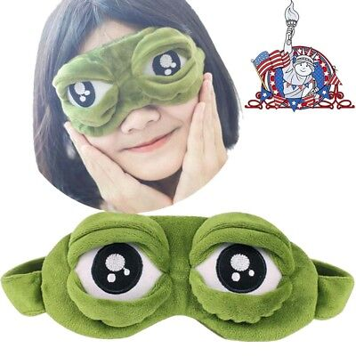 Eyes Cover Frog Goggles Sleep 3D Eye Mask Cover Sleeping Rest Sleep Anime Funny