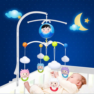 Baby Crib Mobile Bed Bell Holder Arm Bracket For Wind-up Music Box Doll kids Toy