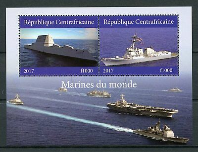 Central African Republic 2017 CTO Military Ships Navy 2v M/S II Boats Stamps