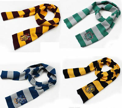 Harry Potter Gryffindor Slytherin Hufflepuff Ravenclaw Scarf Scarves Costume US