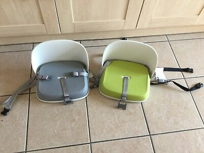 toddler booster seats in green or grey