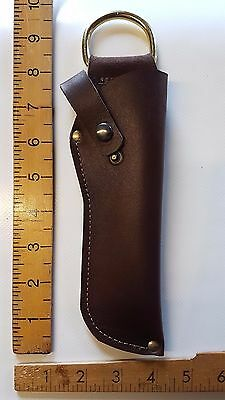 KNIFE SHEATH Cover with BELT Loop - REAL sturdy HIDE LEATHER- Handmade
