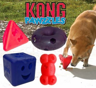 Kong Pawzzles - Puppy Dog Treat Dispenser Interactive Game Puzzle Toy - 4 Shapes