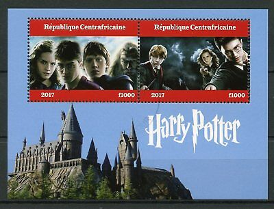 Central African Republic 2017 CTO Harry Potter 2v M/S I Hogwarths Castle Stamps