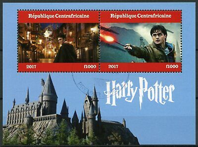 Central African Republic 2017 CTO Harry Potter 2v M/S II Hogwarths Castle Stamps