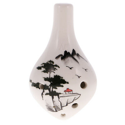 6 Hole Ceramic Ocarina Water Drop Style best Gift for Collector Beginner #1
