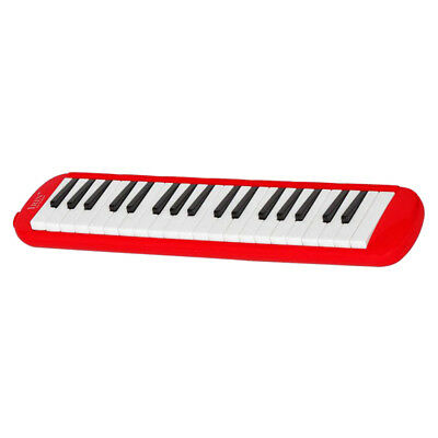 37 Keys Melodica Pianica with Carrying Bag For Student Wind Instrument Red