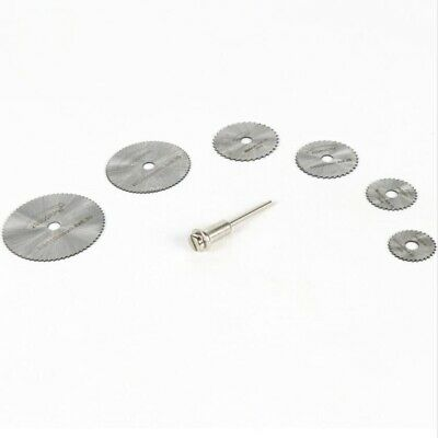 7 Pieces HSS Rotary Circular Saw  Cutting Discs Mandrel Cutoff Cutter