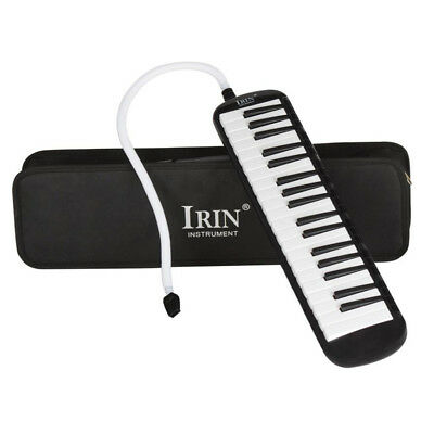 37 Keys Melodica Pianica Keyboard+Mouthpiece/Carrying Bag For Students Black
