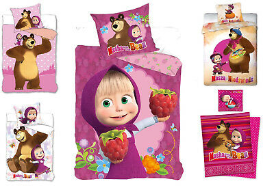 Masha and the Bear Kinder Bettwäsche 135x200/ 140x200 160x200 Masha und der Bär