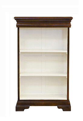 Versailles Elise Bookcase 2 Shelf and Recessed Drawer - Chestnut & Ivory