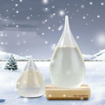 Water Drop Shaped Weather Forecast Crystal Storm Glass Bottle Home Decor