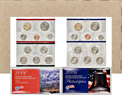 2006 P&D United States Mint Uncirculated Coin Set OGP Mint Sealed Box