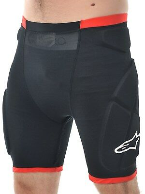 Alpinestars Black-Red Comp Pro MX Protection Shorts