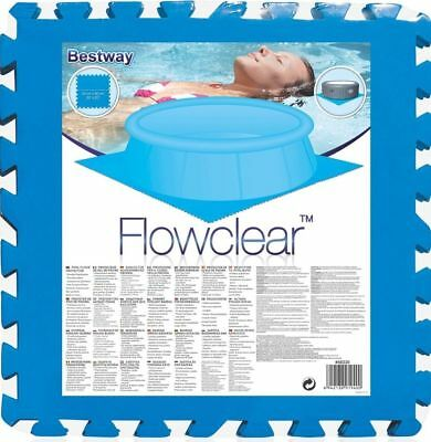 Flowclear Floor Mat Protector for Bestway Pools & Lay-Z-Spa - 8x 20x20in (1.5m²)