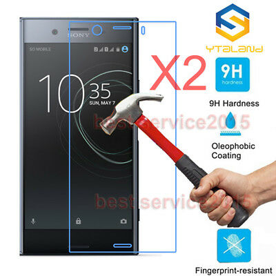 2Pcs 9H+ Premium Tempered Glass Screen Protector For Sony Xperia XZ1/XZ1 Compact