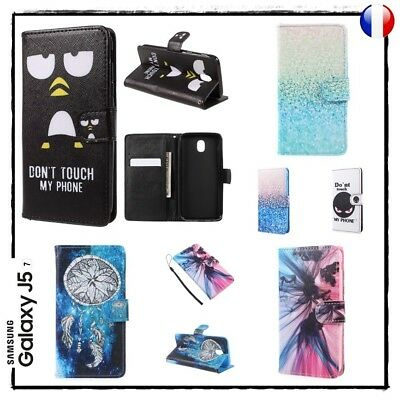 Etui housse coque porte cartes Cuir PU Leather Case Cover Samsung Galaxy J5 2017