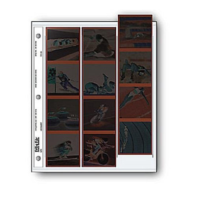 "Archival 120 Size Negative Pages Holds Three Strips of Four 6 x 6"" Frames, Pack"