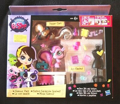 Littlest Pet Shop: Moda Glamour (Pepper Clark & Jojo Chestnut) Glamour Pack. New