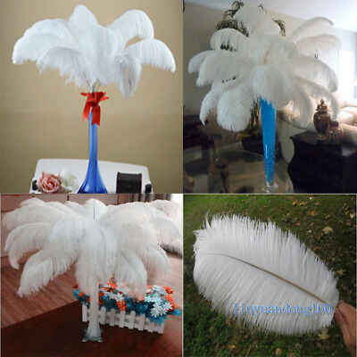 Ostrich feathers 6-28'inch/15-70cm High Quality White 10-100 pcs Wholesale