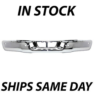 NEW Chrome Steel Rear Bumper Face Bar for 2007-2013 Toyota Tundra w/ Park Assist