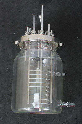 Virtis 1L Jacketed Fermentation Vessel Bioreactor