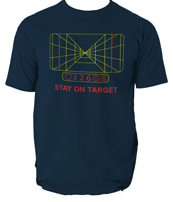 Mens Star Wars Stay On Target T-Shirt Darth Vader Yoda All Sizes Five Colours