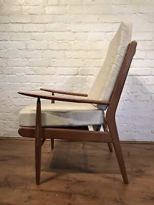 Vtg Mid century Elm Scandart Armchair Cocktail Chair Retro For Restoration