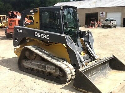 2013 John Deere 333E Track Skid Steer Cab/Air 95% Tracks Great Machine Cold Air