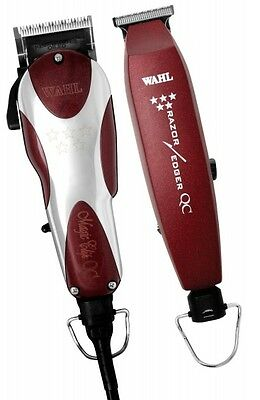 Wahl 5 Star Unicord Combo Magic Clipper V9000 & Razor Edger Trimmer Usa Voltage