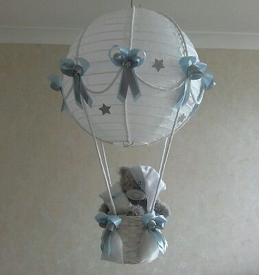 Starry Night Hot Air Balloon light lamp  shade in Blue    Made To Order