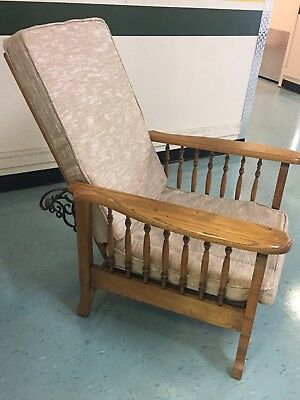 Antique Claw Foot Morris Chair Recliner