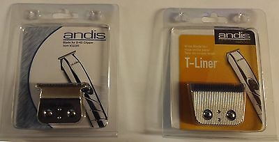 Andis D4D T Liner Rechargeable Machine Replacement Blades (T Blade Or T Wide)