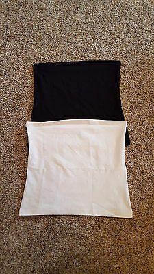 Two Maternity Belly Bands - Baby be Mine - Size 3 (UK - 14+) - Black & Whitle